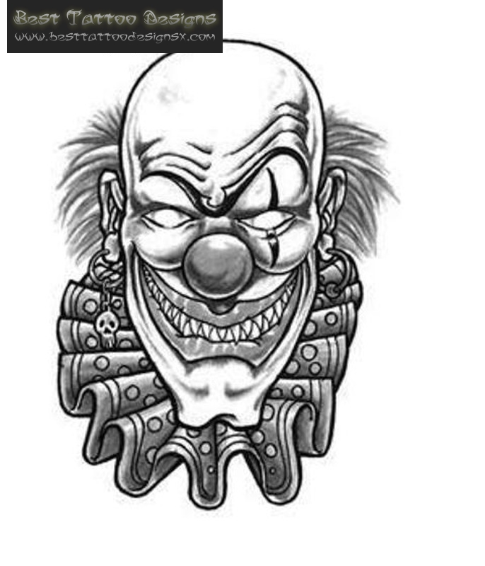 Grayscale Girl Wallpaper 16 Best Clown Tattoo Ideas Designs And Pictures