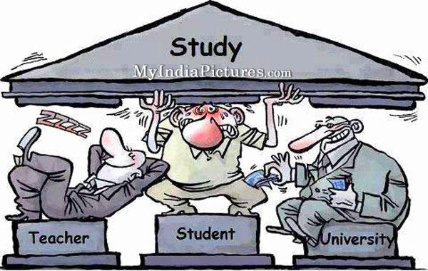 Education System In India Funny Cartoon