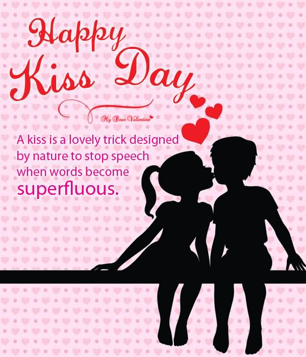 Girl Propose To Boy Wallpaper With Quotes Sending You A Kiss Anime Couple Happy Kiss Day Wishes Picture