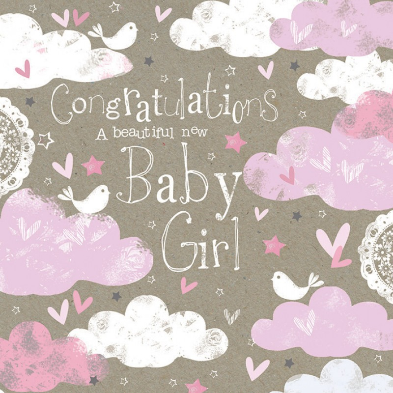 38 Wonderful Baby Girl Born Wishes Pictures - baby girl congratulations card