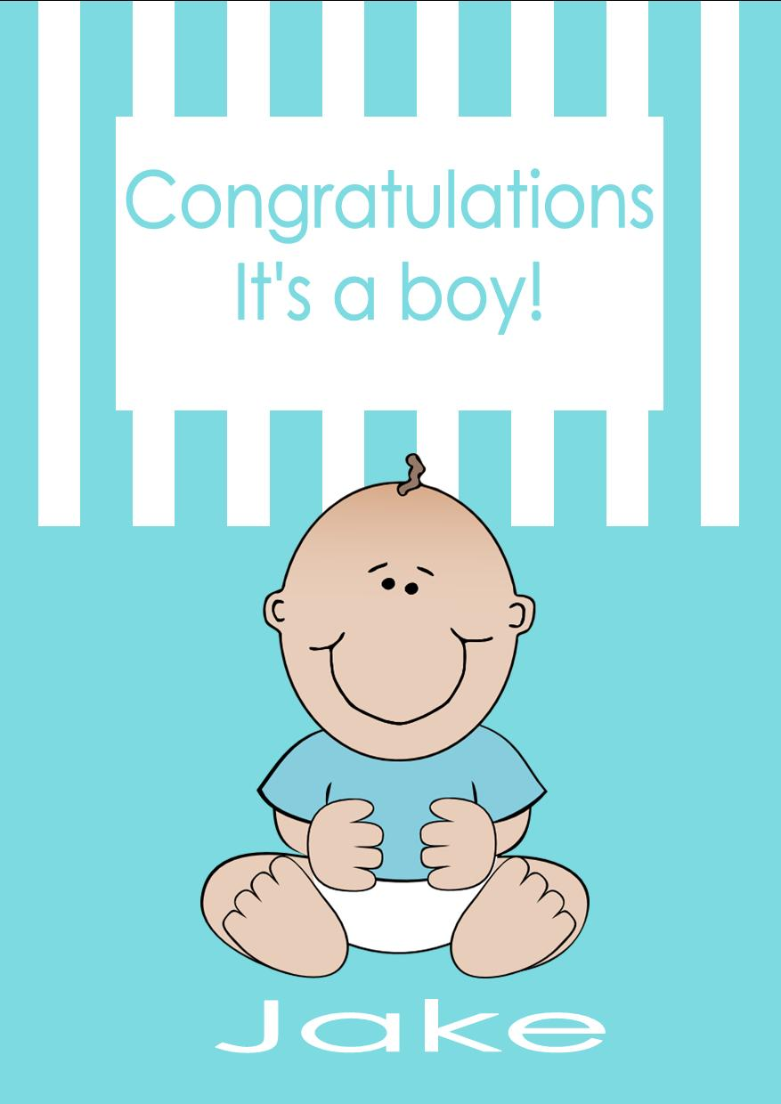 congratulations on a new baby boy