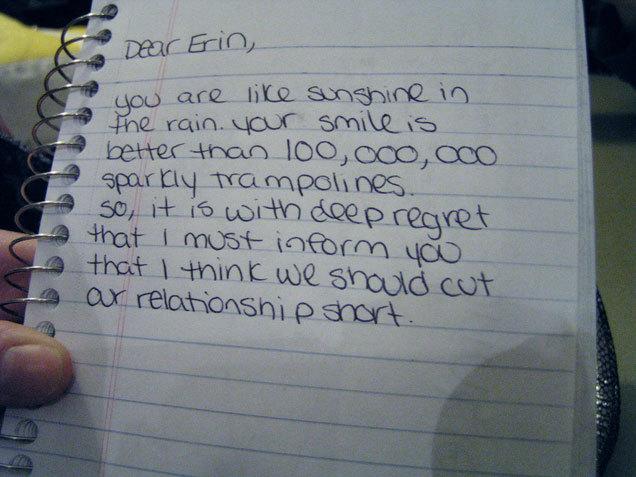 Funny Breakup Letter