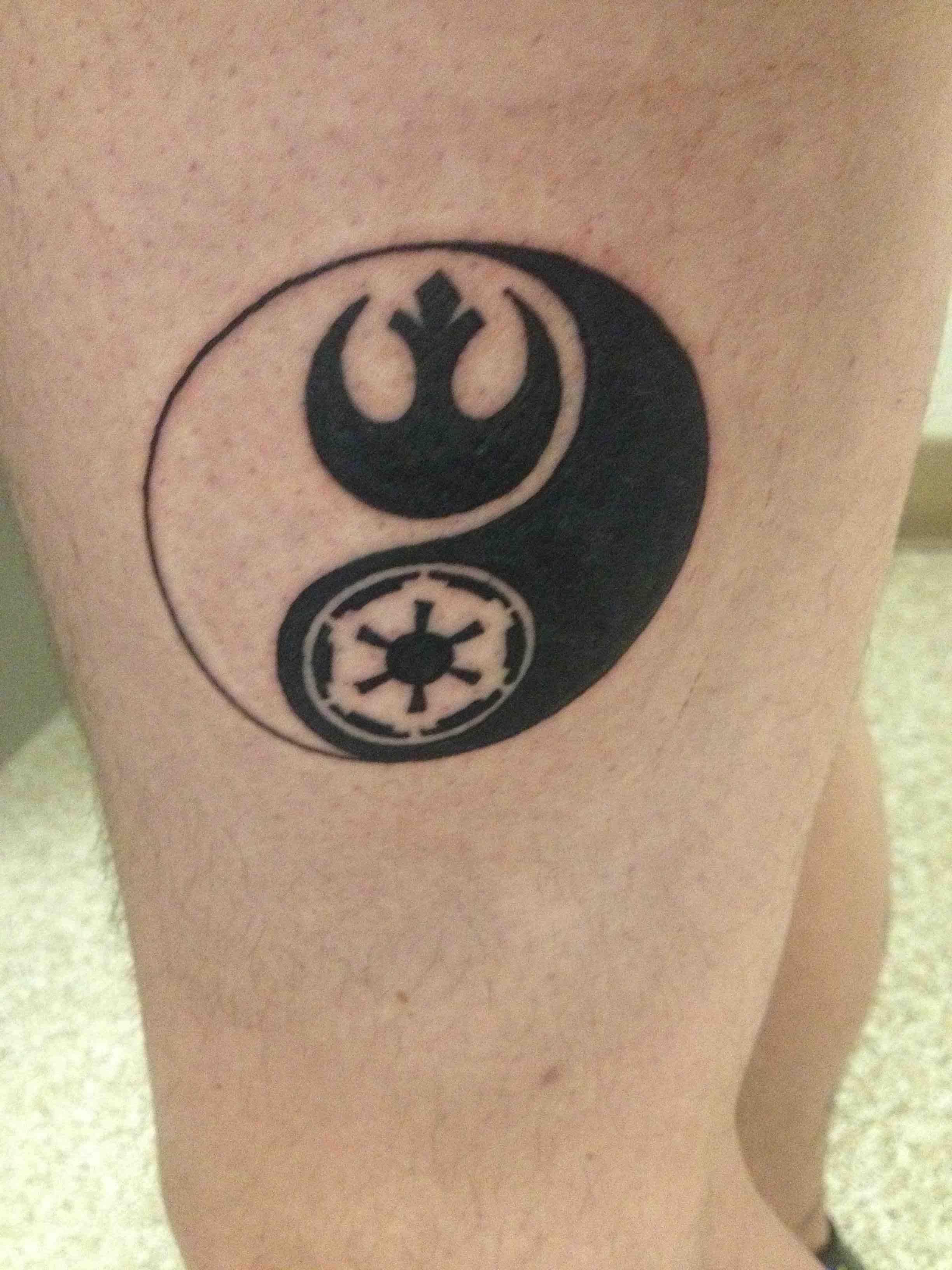 Gurren Lagann Quotes Wallpaper Star Wars Tattoo On Thigh