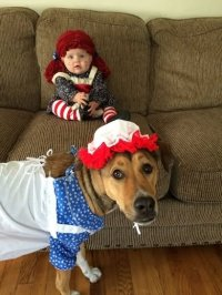Baby Hot Dog Zombie Halloween Costume Funny Picture