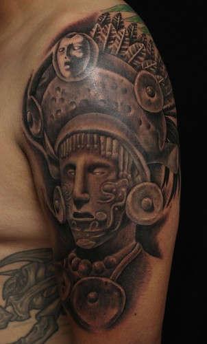 Tribal 3d Wallpaper 12 Mayan Shoulder Tattoos