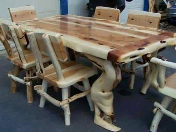 24 Awesome Rustic Wooden Furniture Ideas