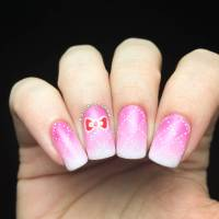 42+ Beautiful Bow Nail Art Design Ideas For Girls