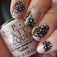 50+ Latest Lace Nail Art Design Ideas