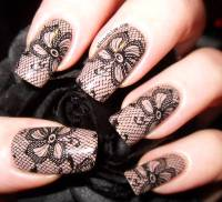 55+ Most Beautiful Lace Nail Art Designs