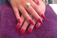 Long Red Acrylic Nails | www.pixshark.com - Images ...