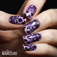 Purple Leopard Print Nail Design