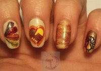 25+ Latest Thanksgiving Nail Art Designs