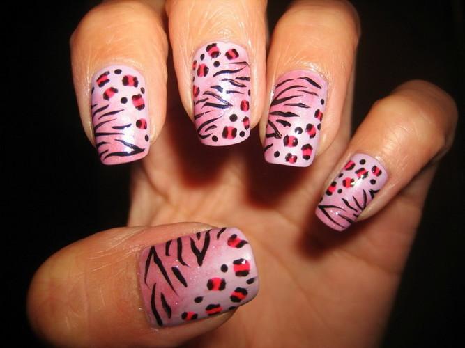 Cheetah Zebra Nail Designs Communiquerenligne