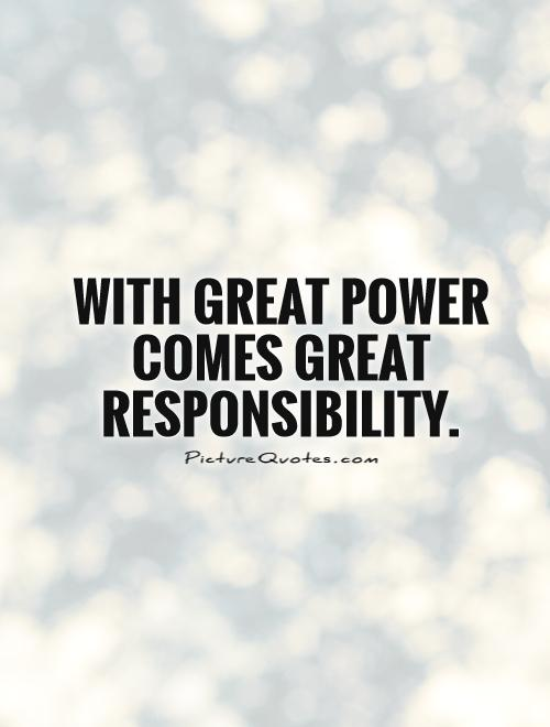 Love Understanding Quotes Wallpaper With Great Power Comes Great Responsibility