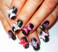 35+ Best 3D Rose Flowers Nail Art Design Ideas