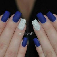 Top Royal Blue Nail Designs Images for Pinterest Tattoos