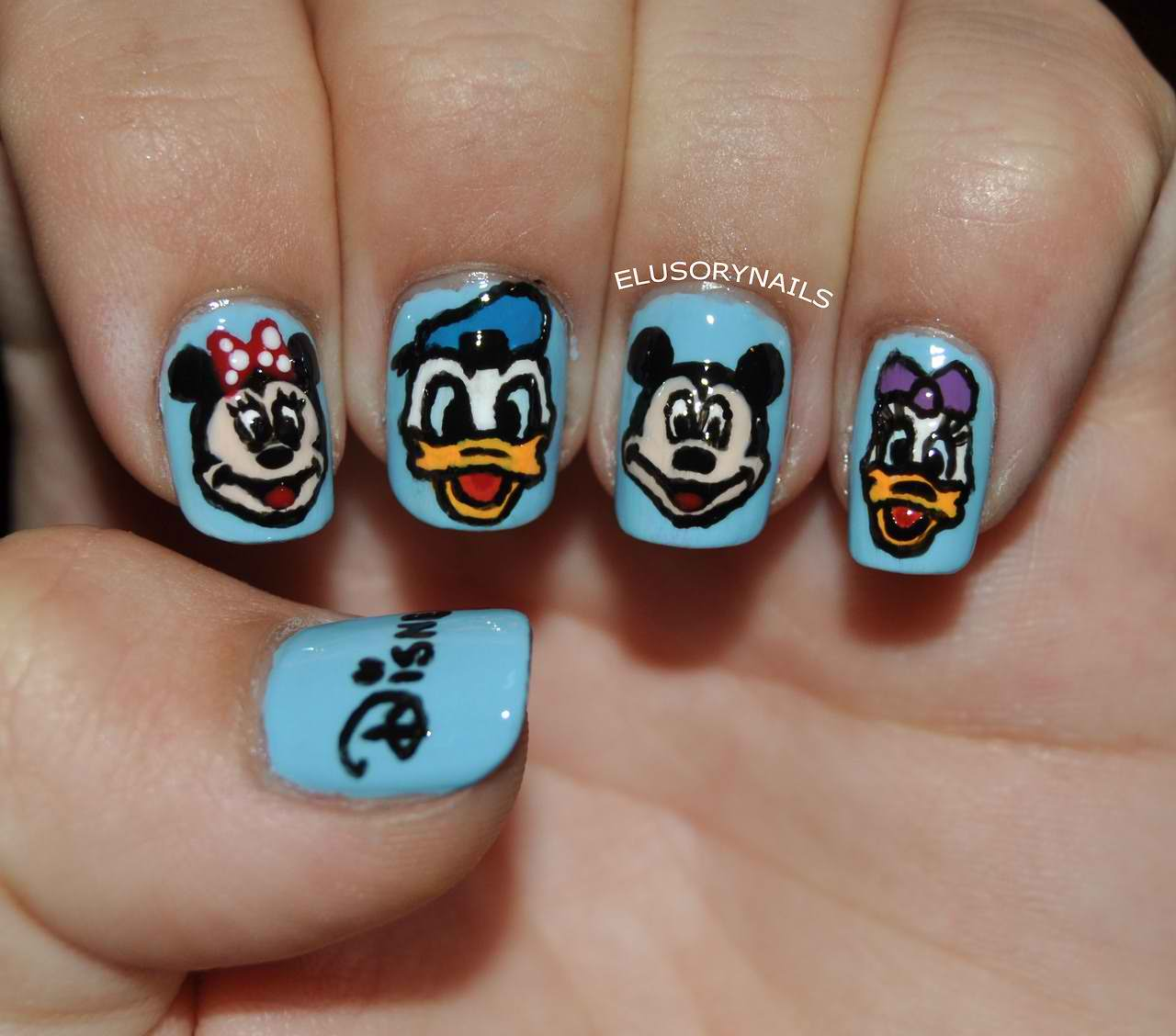 35+ Latest Cartoon Nail Art Designs
