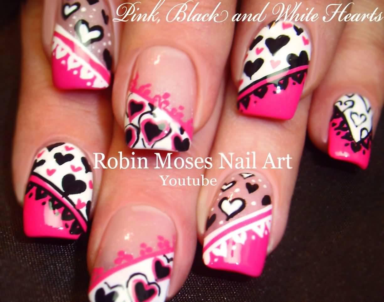 Nail Polish Heart Ivoiregion Art Pink Black Oriflame