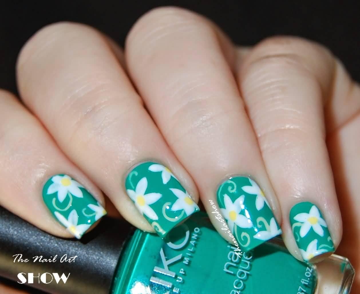 White Flower Nail Design Ivoiregion