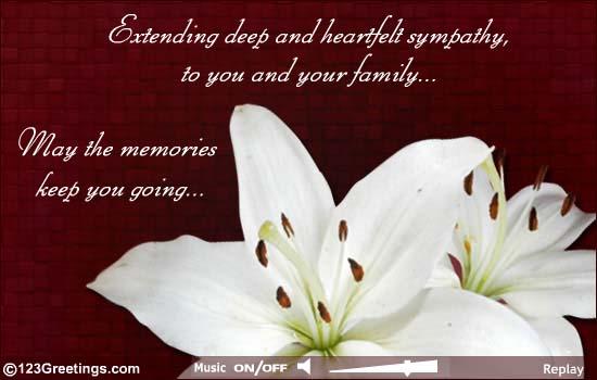 condolence thank you cards
