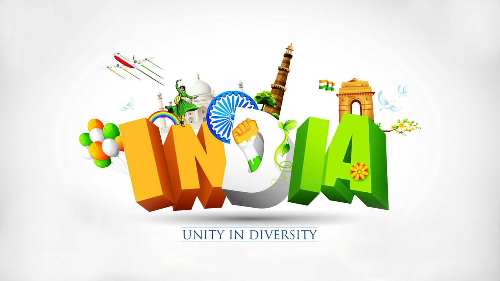 Bhakti Wallpaper 3d Hd Download India Is About Unity In Diversity Happy Republic Day