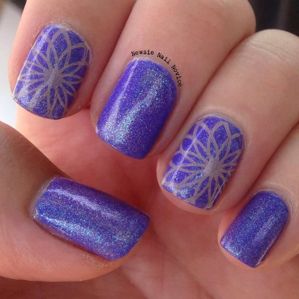 purple gel nail design 65 cool