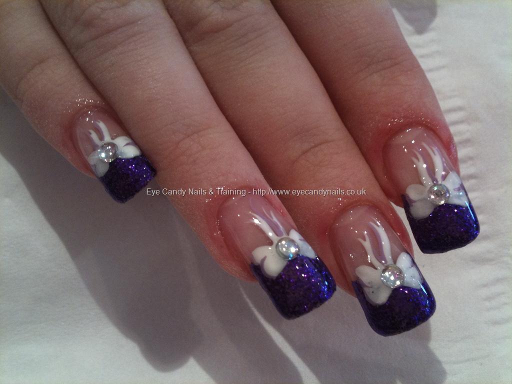 50 Cool Purple French Tip Nail Art Design Idea