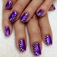 65 Cool Purple Nail Art Design Ideas