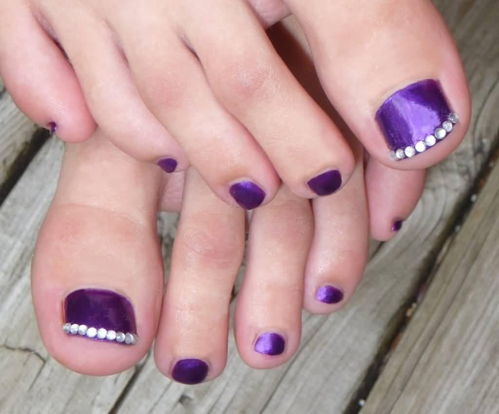 Rhinestone Toe Nail Designs Communiquerenligne