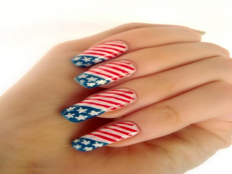 Nail Art American Flag Ivoiregion