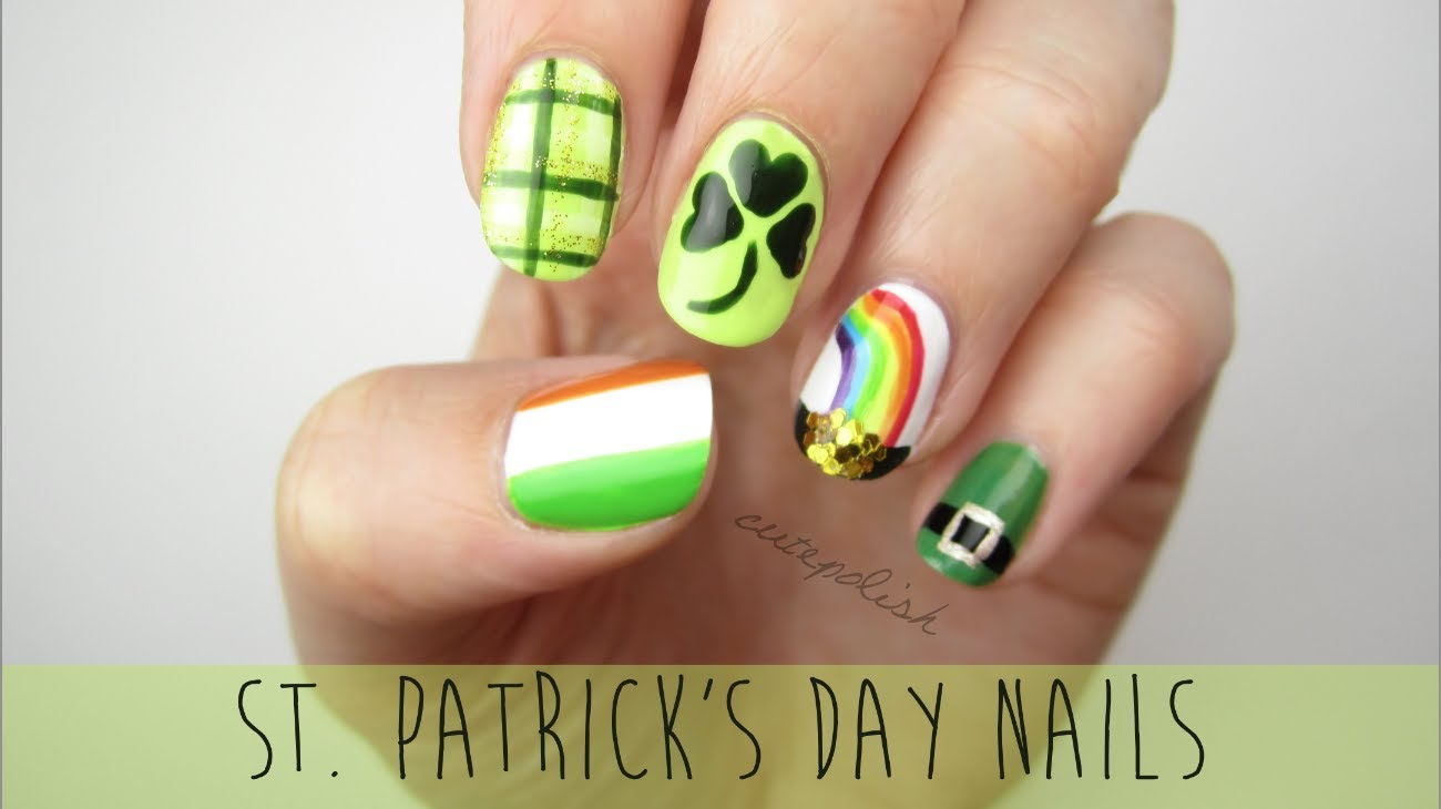 St Patricks Day Nail Art With Video Tutorial