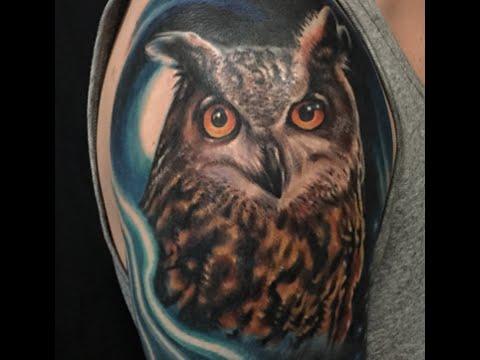 Girl Tattoo Wallpaper Eagle 30 Realistic Owl Tattoos Ideas