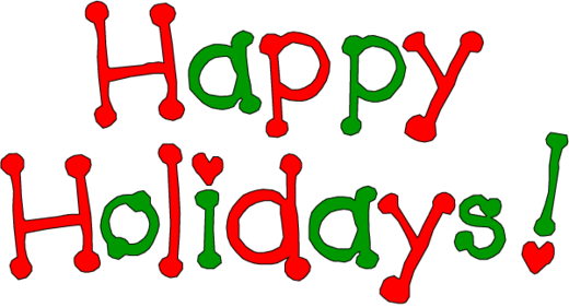 Happy Holidays Red And Green Text Clipart