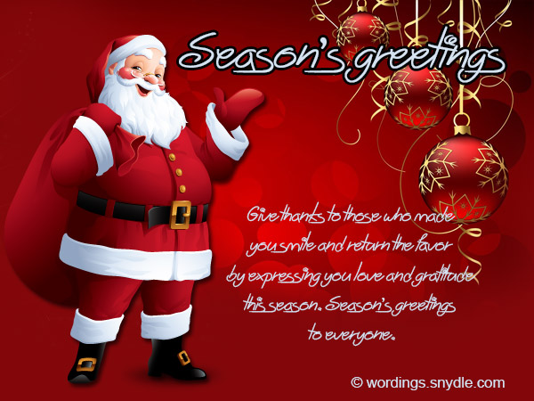 Seasons Greetings Give Thanks To Those Who Made You Smile