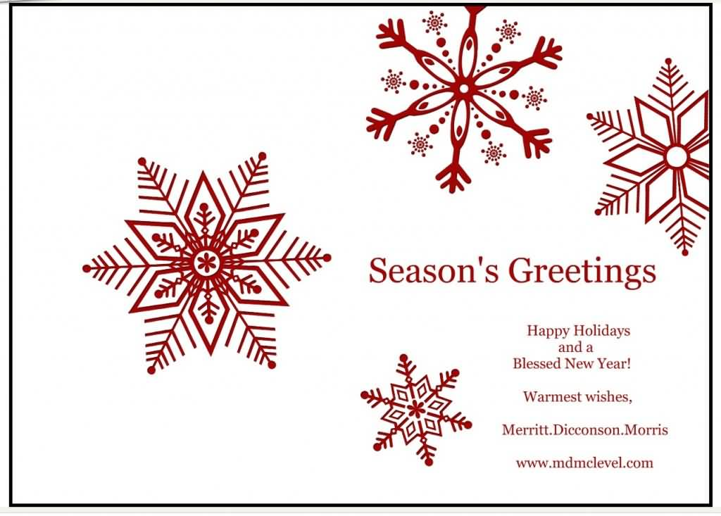 Season\u0027s Greetings Happy Holidays And A Blessed New Year Card - happy holidays and new year greetings