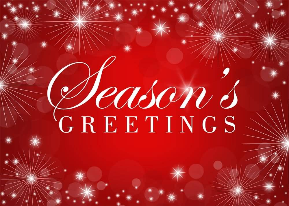 Seasons Greetings Red Background Picture