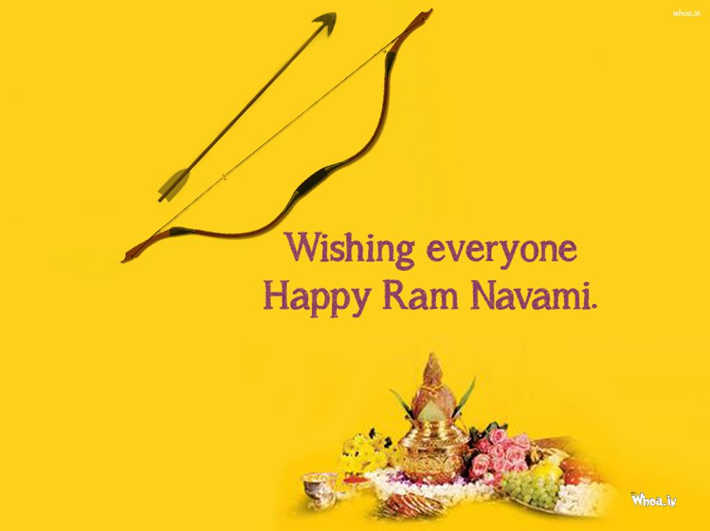 Hd Wallpapers Of Nail Art Wishing Everyone Happy Ram Navami Bow And Arrow