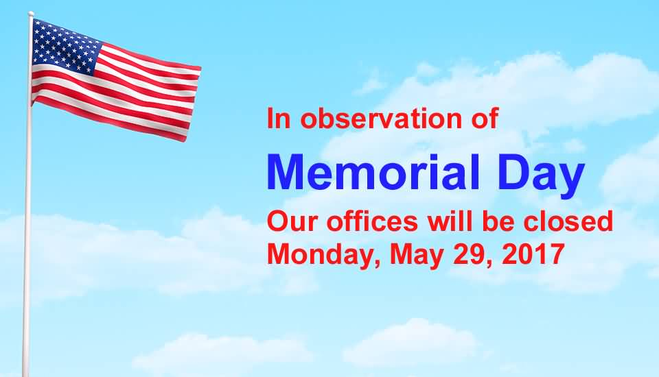 memorial day closed sign template