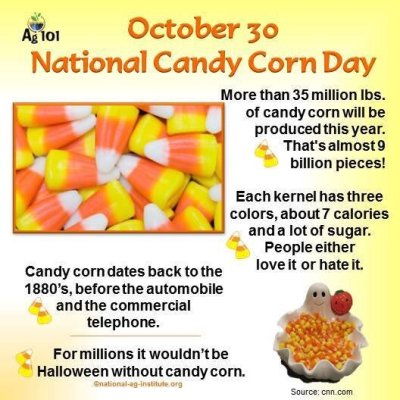 October 30 National Candy Corn Day Wishes