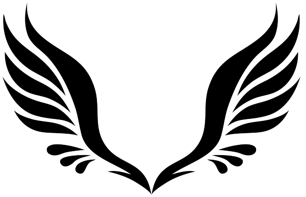 Tribal Angel Wings Tattoo Design