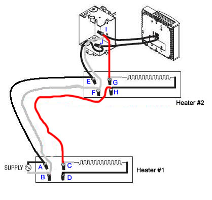 wiring baseboard electric heaters