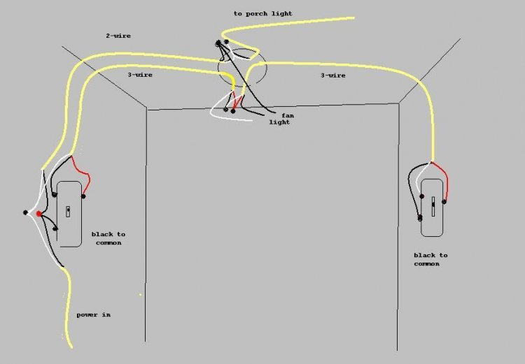 3 way switch wiring diagram variations ceiling light