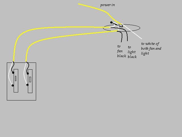 wiring bathroom fan light combo diagram