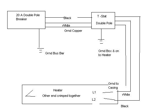 220 baseboard heater wiring diagram