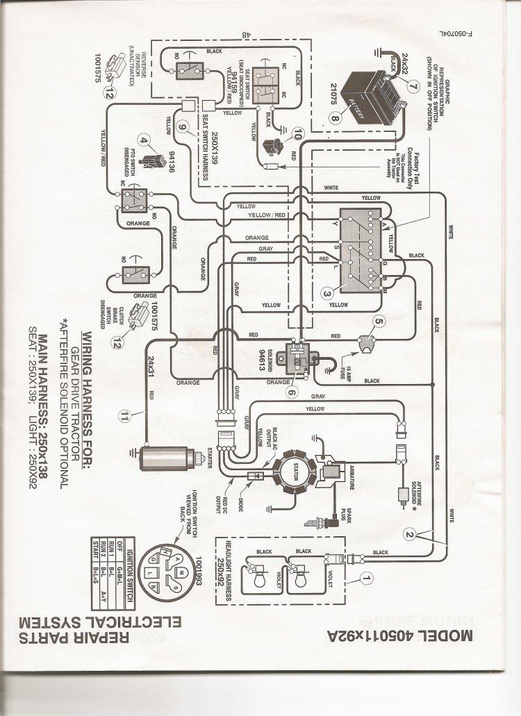 White Riding Lawn Mower Wiring Diagram circuit diagram template