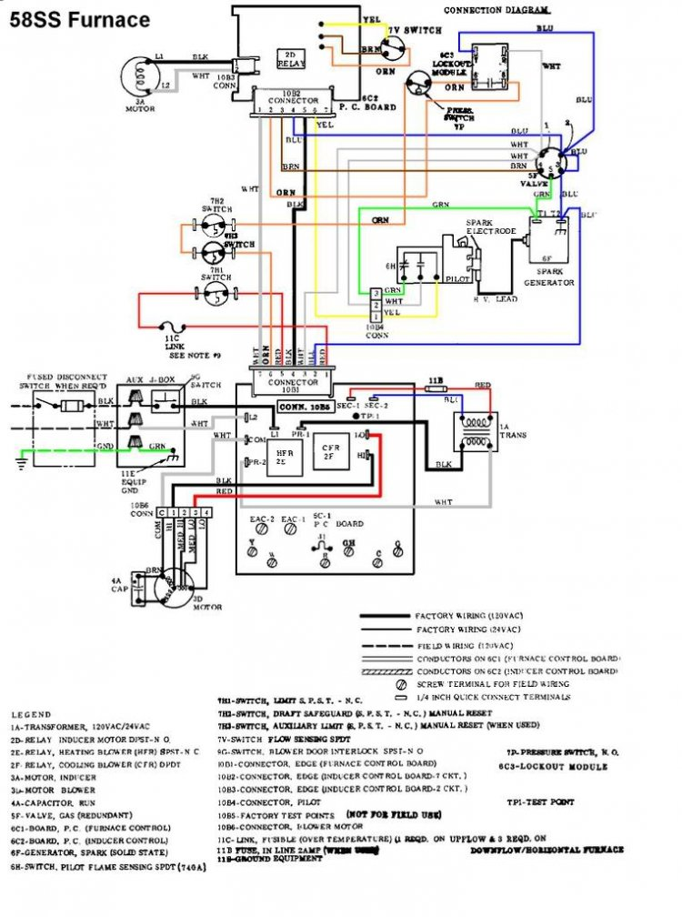 Old Carrier Gas Furnace Wiring Diagram Electronic Schematics