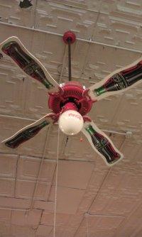 Antique coca cola ceiling fans