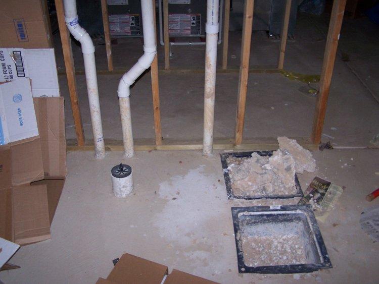 Basement Rough-In Plumbing