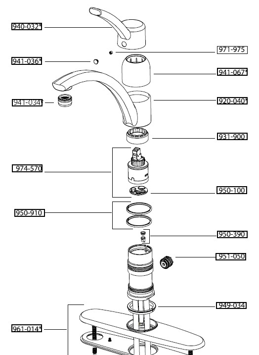 sink sprayer schematic