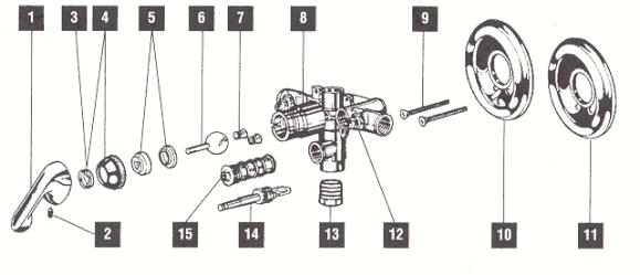 delta shower faucet assembly diagrams